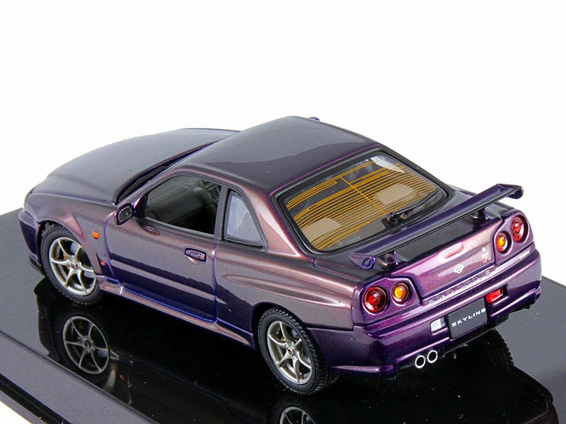 Модель nissan skyline r34 gtr 1999 midnight purple
