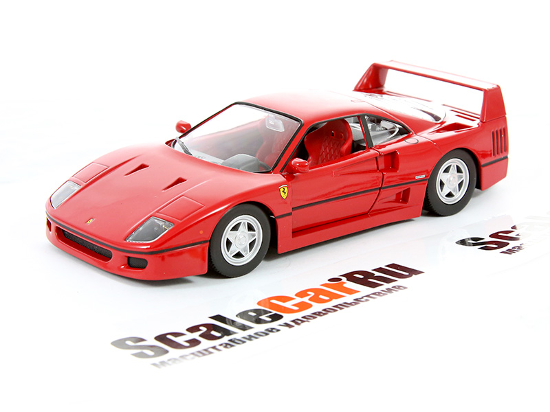 d0f02cd8 Масштабная модель 1/24 Ferrari F40 красный. Купить в интернет-магазине  ScaleCar.Ru