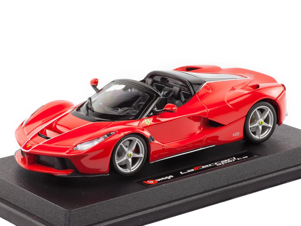 22af1035 Масштабная модель 1/24 Ferrari LaFerrari Aperta красный. Купить в интернет- магазине ScaleCar.Ru