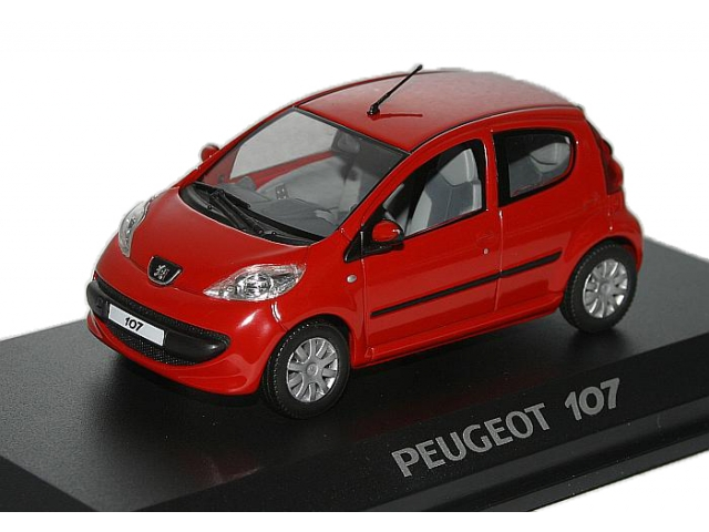 1 43 peugeot 107 5 rouge 2005 scalecar ru. Black Bedroom Furniture Sets. Home Design Ideas