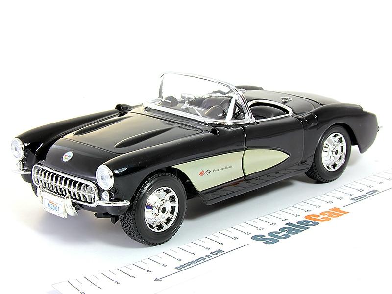 bluemetallic 1957 CHEVROLET Corvette Maisto 1:18