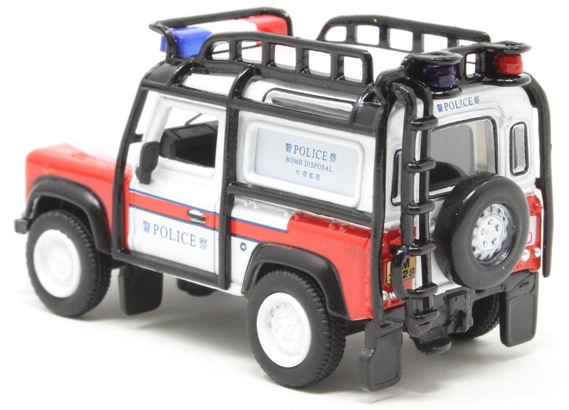 Oxford Diecast Hong Kong Police Bomb Disposal Land Rover Defender 90 Station Wagon