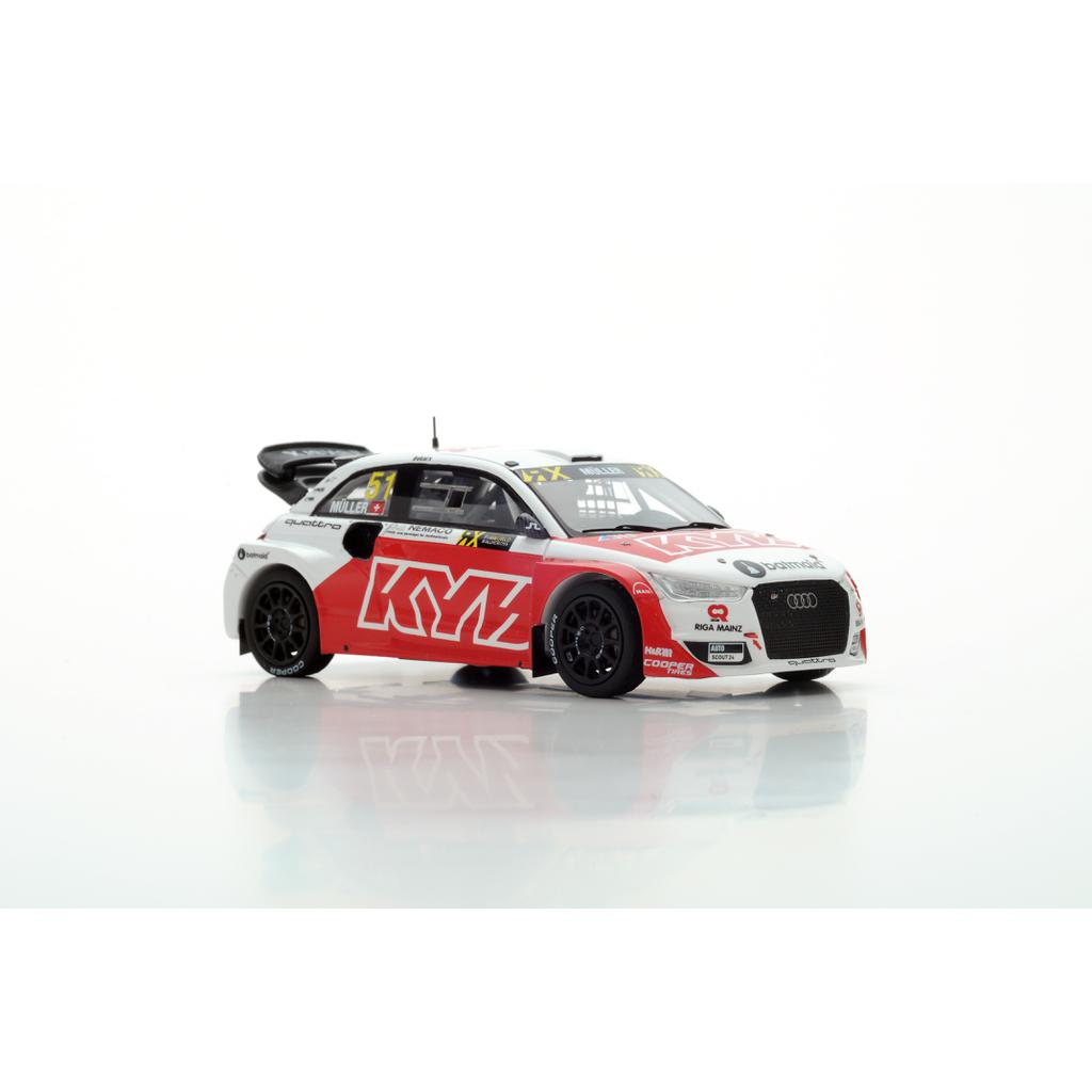 S5864 Audi S1 EKS RX Quattro KYB WRX Frankreich 2017 Nico Müller Spark 1:43